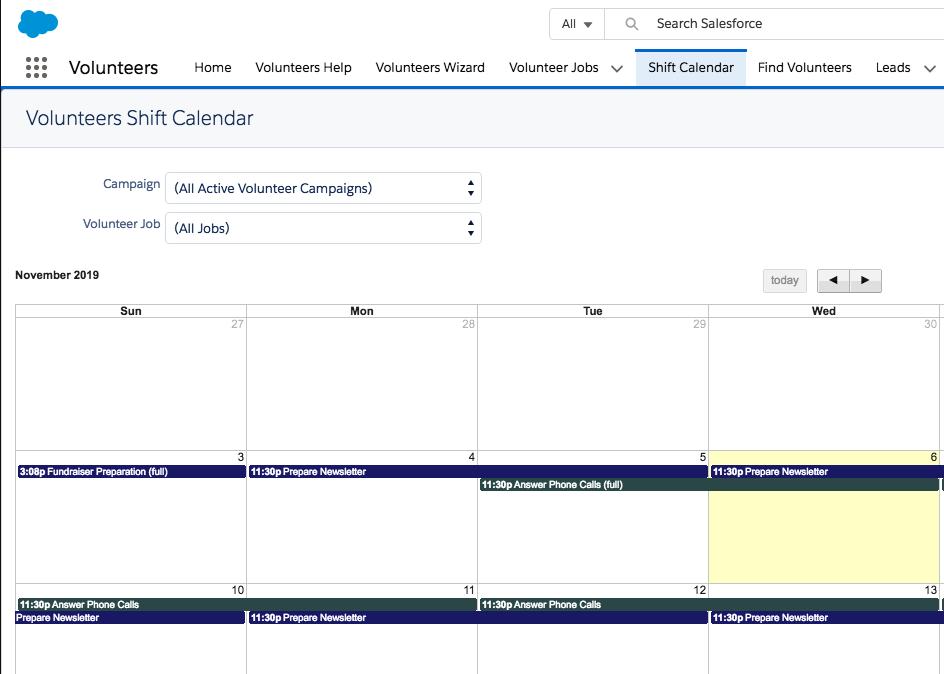 Integrating Salesforce WordPress Calendar NPSP Volunteer