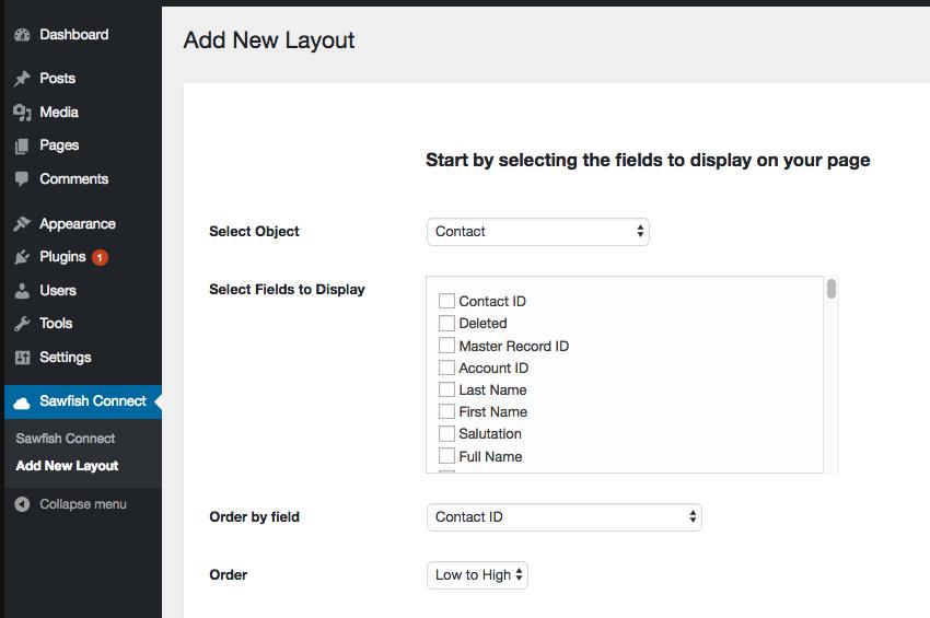 wordpress salesforce integration plugin options volunteer